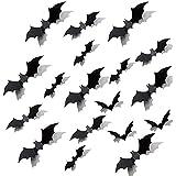LinTimes Halloween vleermuis decoratie, 3D vleermuis muursticker sticker scatter decoratie geschikt voor bar, familie, party