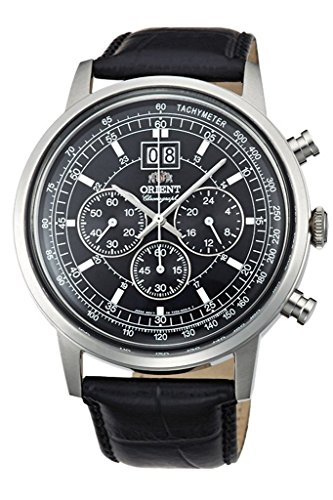 Orient big-date Classic Chronograph Quarz Kleid Armbanduhr tv02003b