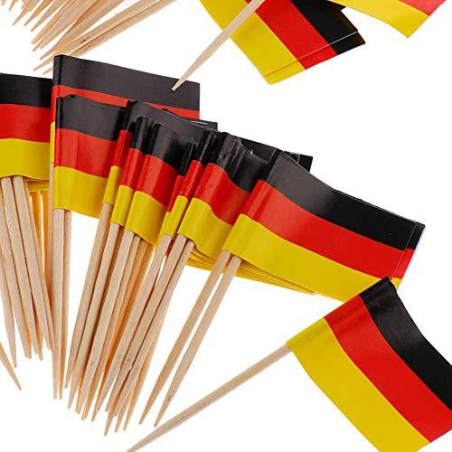 Beito Mini Flag zahnstocher 100 stücke Deutschland Flagge Kuchen Auswahl internationalen veranstaltungen Cocktail Stick Flag Obst Lebensmittel Pick - Deutschland-kuchen
