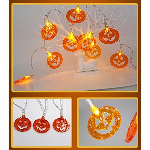 Meedot Hauptdekoration Licht 7.2ft 20 LED Batterie Energie feenhafte Lichterketten für Halloween Dekoration Hollow Pumkin Multicolor