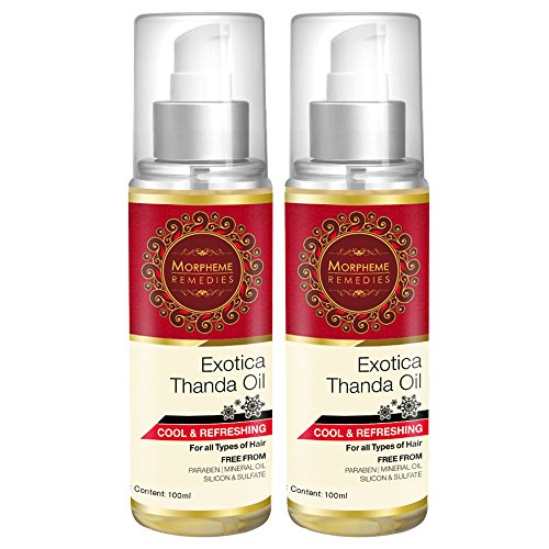 Morpheme Exotica Thanda Hair Oil - 2 Bottles  available at amazon for Rs.699