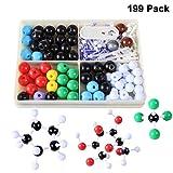 Winni43Julian Modello molecolare Set - 199 pz Kit per Modellini Molecolarie Chimica Organica e Inorganica - Atomi e Molecole Modelli
