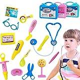 WEIZQ Kinder Arztkoffer Spielzeug Trolley Fall Medical Kit Emulational Arzt Spiel-Set Rollenspiel Spielzeug Kinder für ab 3 Jahre