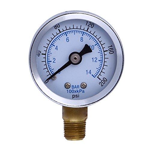 Metall 1/20,3cm NPT Air Kompressor Hydraulik Manometer 200PSI Seite Halterung -