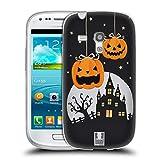 Head Case Designs Kürbise Und EIN Schloß Halloween Figuren Soft Gel Hülle für Samsung Galaxy S3 III Mini