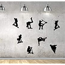 Online Design Kids Stunt Scooters, jumps, Tricks, Vinyl Wall Decorations Window Stickers Wall Decor Wall Stickers Wall Art Wall Decals Stickers Wall Decal Decals