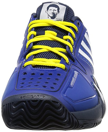 adidas Novak Pro, Chaussures de Sport Homme Multicolore - Azul / Blanco / Amarillo (Reauni / Ftwbla / Amabri)