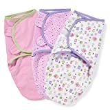 Summer Infant Cotton Swaddle Me (Pack of 3, Pink)