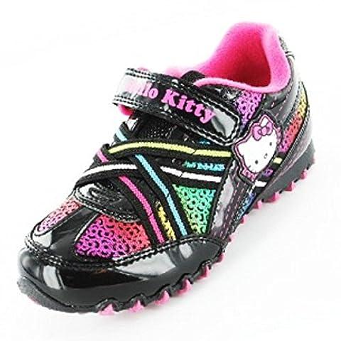 Hello Kitty Filles Chaussures de Sport Arc-en-Ciel L'école (27.5)