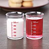 Due bicchieri di vetro ml con scala, piccola casa con dosatore di Coppa di droga standard con acqua tazza bambino
