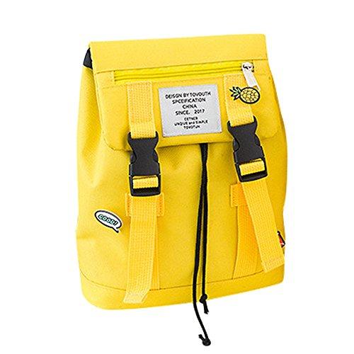 Keepwin Teenager Mädchen Jungen Studenten Schulter Schultaschen, Mode Familien Reise Rucksack Eltern Kind Paket (Gelb S)