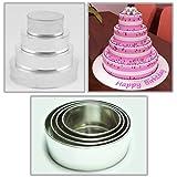 Hochzeit Kuchenform Runde Backform 4er Set cake pans