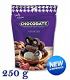250 grams Chocodate - Schokolade Datteln mit Mandeln Sortiert Familienpackung, neue und verbesserte Qualität