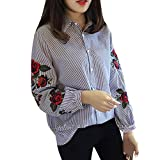 Best Wilson Usa Chemises - Manches longues Blouse, Femme Chemisiers rayés Floral Tops Review