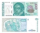 Argentine une austral billets émis par la Banque centrale d'Argentine pour les collectionneurs de billets de banque conception / 1985