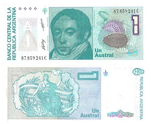 Argentinien eine austral Banknote durch Central Bank of Argentina für die Banknotensammlerausgegeben / 1985 Design -