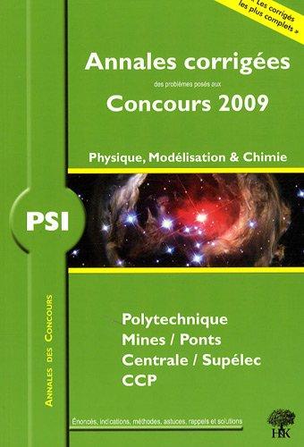 Physique, modélisation et chimie PSI : Annales de concours