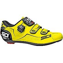 Sidi Zapatillas de Ciclismo de Material Sintético para Hombre Amarillo Amarillo Fluo
