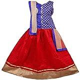 New Creation Girls Lehenga Choli Ethnic Wear Embroidered Lehenga, Choli and Dupatta Set (7-8 Years, Pack Of 1)