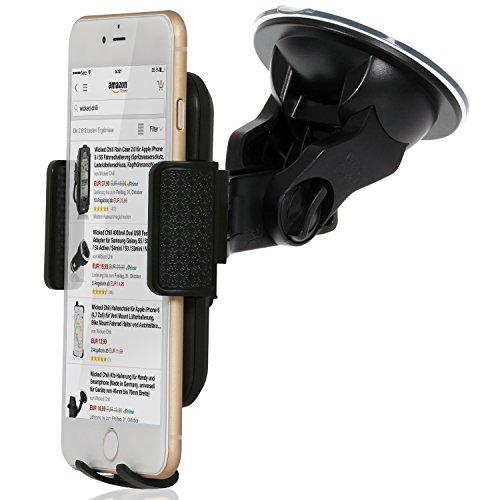 Wicked Chili KFZ Halterung universal für Apple iPhone 6 Plus / 6 (4,7') / 5S / 5C / 5 / 4S / 4 (kompatibel mit Bumper / Hülle / Case)