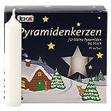 OLShop AG 3er Pack Pyramidenkerzen klein, weiß ca. 14 x 74 mm (3 x 24 Stück) Weihnachtskerzen,...