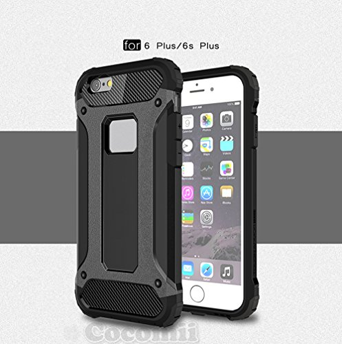 iPhone 6S Plus / 6 Plus Coque, Cocomii Commando Armor NEW [Heavy Duty] Premium Tactical Grip Dustproof Shockproof Hard Bumper Shell [Military Defender] Full Body Dual Layer Rugged Cover Case Étui Hous Black