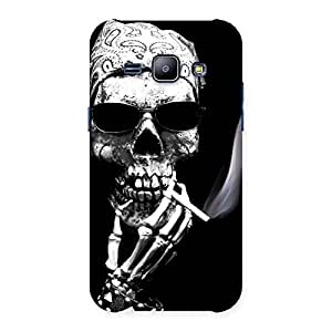 Smoking Skull Back Case Cover for Galaxy J1