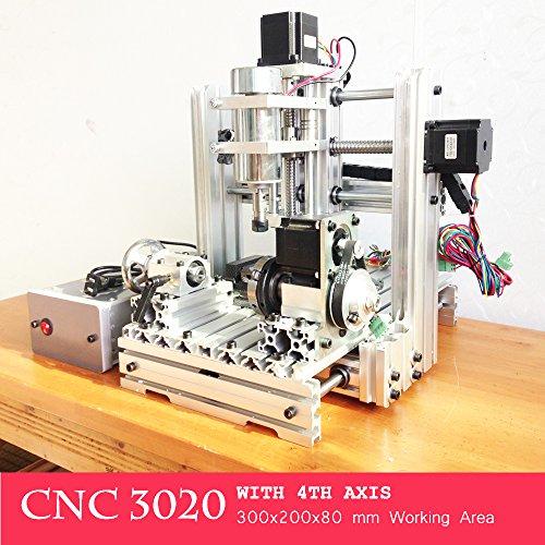 CNC 3020300W 4Axis USB-Port 3D Bohren Router DIY cnc3020Holz Gravur Maschine graviermeister Fräsen Kit (Die Knochen Graben)