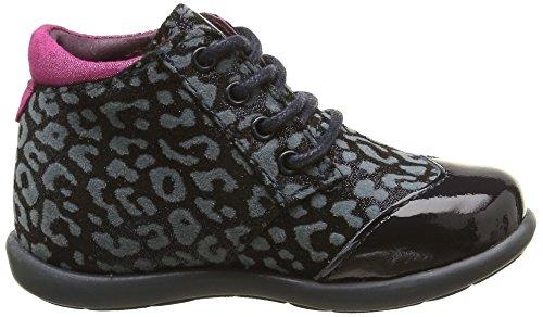 Mod8 Lisbeth, Chaussures Premiers Pas Bébé Fille Bleu (Marine imprimé)