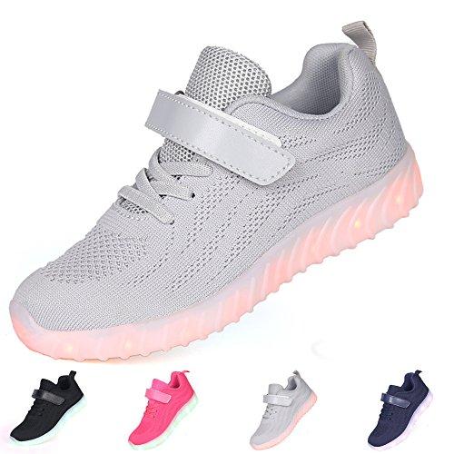 chuhe - Licht Auf Casual Schuhen Mode Atmungsaktives Mesh Blinkende Turnschuhe Ausbilder Outdoor - Schuhe Die Jungen Der Junge Dchen ()