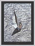 Carlo Borlenghi Stampa D'Arte e Cornice (MDF) Alluminio Spazzolato - Maxi Yacht - Rolex Cup (80 x 60cm)