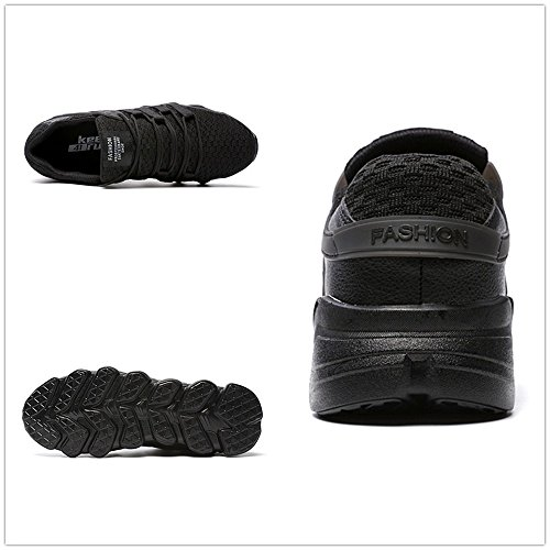 Uomo Scarpe da Sportive Ginnastica Running Basket Sneaker Ginnastica Sport Bianco Grigio Nero 39-46 Nero