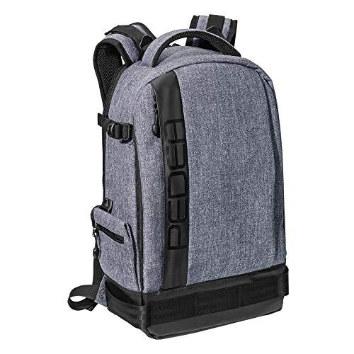 """PEDEA SLR-Kamerarucksack \""""Fashion\"""" Kameratasche Fotorucksack SLR Rucksack mit Regenschutz, variabler Inneneinteilung und Zubehörfächern, grau"""