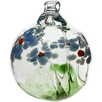 Kitras 5,08cm bola de flores adorno de cristal, simpatía