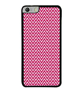 Fuson Pink Chevron Glow Designer Back Case Cover for Micromax Canvas Knight 2 E471 (Ethnic Pattern Patterns Floral Decorative Abstact Love Lovely Beauty)