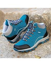 outdoor Zapatos De Senderismo Antideslizantes De Otoño E Invierno, Zapatos Al Aire Libre Masculinos Ligeros De Senderismo Zapatos De Senderismo, Zapatos De Senderismo De Alta Gama,Zafiro,41