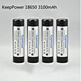 KeepPower 18650 3100 mAh Protected Akku Li-Ion...