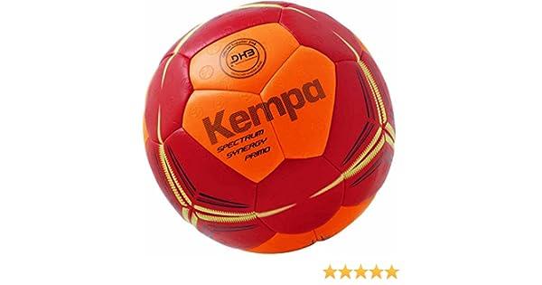 Kempa Handball für Spiel und Training DHB Logo rot//orange griffig mit Ballpumpe