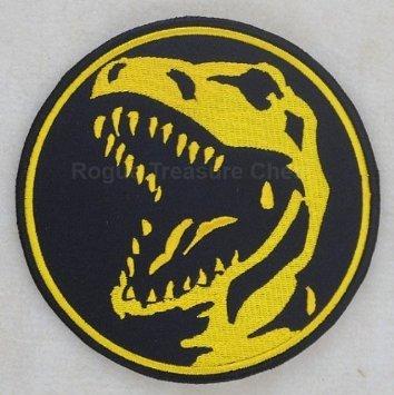 Power Rangers Rouge Ranger thermocollant Patch (8,9cm/9cm) brodée Trex Dinosuar badge–Livraison Gratuite.