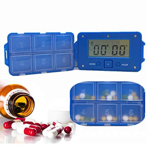 XZLBY Tragbar Pille Dispenser Wecker Erinnerungsfunktion Medikamentenerinnerung Essen Medizin Rechtzeitig