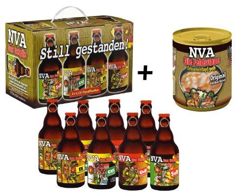 NVA Set 2! 8er Bier-Geschenkkarton NVA Teil 1 + NVA Feldsuppe -