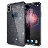NALIA Coque Silicone pour iPhone X XS, Fine Glitter Housse Protection Case Paillettes...