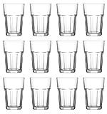 Trinkglas Cocktailglas Caipirinha Glas Transparent oder Farbig sortiert 300 ml, Stückzahl:12 Stück, Farbe:Transparent