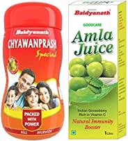 Baidyanath Chyawanprash Special - 1 Kg & Baidyanath Amla Juice -