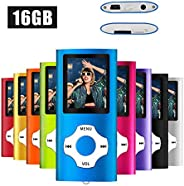 MYMAHDI MP3/MP4 Music Player with 16 GB Micro SD Card(Expandable Up to 128GB),Supporting Photo Viewer,Voice Re