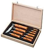Opinel O183102, Caja de Coleccionista Madera 10 cuchillos carbono Unisex - Adulto, Marrone, M