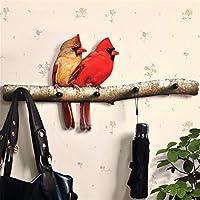 SD&EY decorative hook pastoral European wall hanging wooden coat hook parrot for living room porch door
