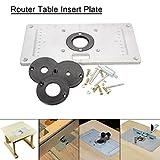 Einlegeplatte, Essort Router Tabelle 235x120x8MM Befestigungsplatte Einsatzplatte Mit Kontermutter für die Holzbearbeitung