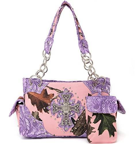 Blancho Biancheria da letto delle donne [Foglie Elfi CB-S # 1] PU Leather Bag Set Elegante Portafoglio Hanbag Combo Fashion Bag borsa Lime Handbag 2 - Purple