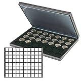 Münzenkassette NERA M [Lindner 2364-2180CE] mit schwarzer Münzeinlage
